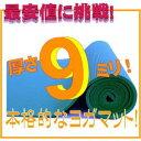 【最安値に挑戦!】【レビュー書き込みでさらに専用メッシュケースをプレゼント!】驚きの厚さ9mm! ヨガマット クッション性抜群!! (厚さ9mm ヨガマット yogamat)