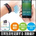 活動量計(iPhone対応・リストバンド型・Bluetooth・防水規格IPX7取得) NEO4-HLS005 WEB企画品