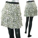 マックスマーラ SPORT MAX CODE デザイン柄シルクティアードスカート TEOREMA 002:WHITE 【キャッシュレス還元対応】