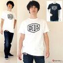 【送料無料】DEUS EX MACHINA/デウスエクスマキナロゴプリントTシャツ【SHIELD】【DMW41808E】◇