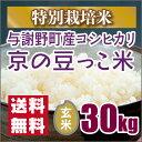 今年の新米も自信ありです!【特別栽培米】京都丹後豆っこコシヒカリ玄米30kg(29年産)