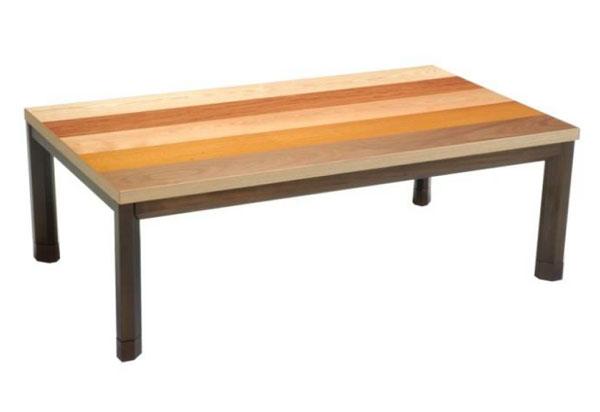 こたつ コタツテーブル 120センチ巾長方形こたつテーブル 天然杢 SHERUTA-FC 国産こたつ/コタツ 120センチ巾長方形