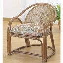 和風座いす 籐椅子 ラタンアームチェアーハイタイプ/座椅子 TK110 ザイス 座いす
