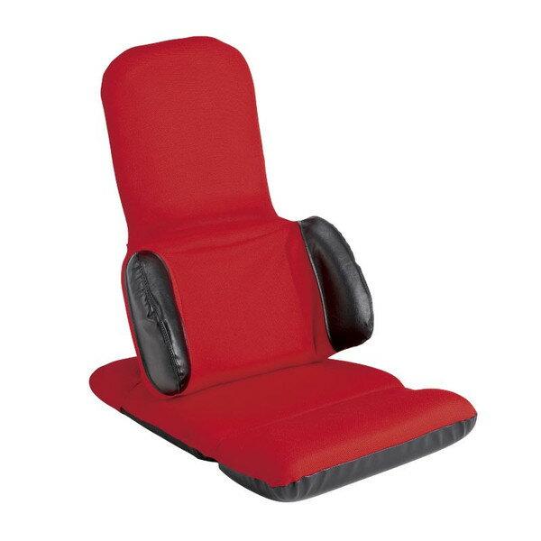 椅子/座いす 完成品 リクライニング トランスフォームチェア YS-1212 レッド色 日本製 日本製《母の日 父の日 敬老の日 ギフトプレゼント好適品》