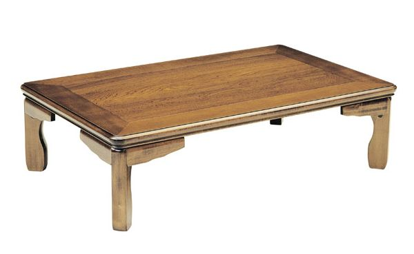 和風折れ脚座卓テーブル  105巾長方形 RAN(らん) 天然杢栓(セン) 安心、信頼の国産品(日本製)です。☆全ての種類☆