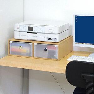 プリンター台複合機対応プリンタの下に用紙やインクを収納可プリンタースタンド収納