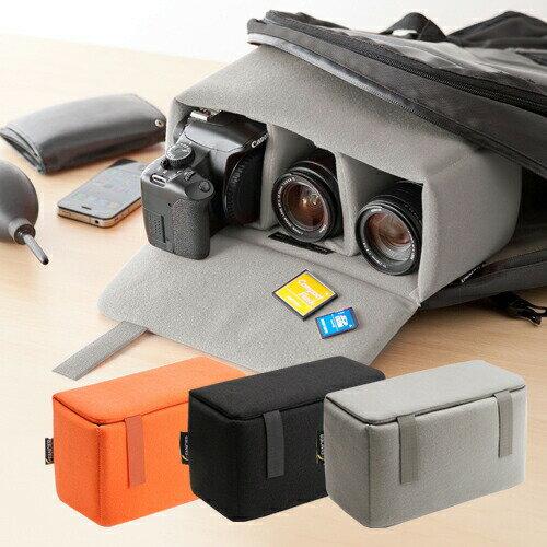 一眼レフ カメラバッグ ソフトクッションボックス カメラケース カメラバック インナーカメ…...:sanwadirect:10063089