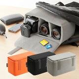 一眼レフ カメラバッグ インナーバッグ ソフトクッションボックス オレンジ カメラバック CAMERA BAG [200-BG019] 【サンワダイレクト限定品】