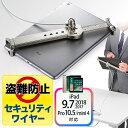 【送料無料】タブレット iPad セキュリティワイヤー 7インチ〜10インチ対応 シルバー [200-SL019SV] 【サンワダイレクト限定品】
