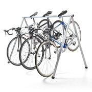 【1月25日値下げしました】自転車スタンド 最大5台 レーススタンド 工具不要 サドル引掛け式 バイクスタンド バイクハンガー クロスバイク ロードバイク フレーム サイクル [800-BYST5]【サンワダイレクト限定品】【送料無料】