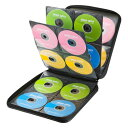 CDケース DVDケース セミハードケース 160枚収納 ファイル型 ブラック 収納ケース メディアケース [FCD-WL160BK]【サンワサプライ】