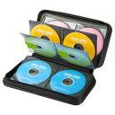 CDケース DVDケース セミハードケース 96枚収納 ファイル型 ブラック 収納ケース メディアケース [FCD-WL96BK]【サンワサプライ】