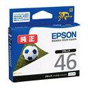 純正インク エプソン ICBK46 (ブラック) インクカートリッジ サッカーボール 【EPSON】
