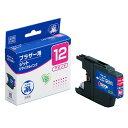 ブラザー LC12M対応 (マゼンタ) JITリサイクルインク 日本製 国産 brother 再生インク[JIT-B12M]【ジット】