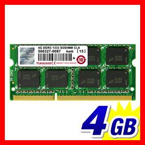 ���ߥ��4GB�Ρ���PC�ѥ���SODIMMDDR3-1333PC3-10600Transcend����⥸�塼��PC����
