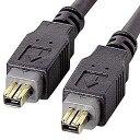 IEEE1394ケーブル(4pin-4pin・1m・ブラック)