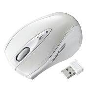 2.4GHz ワイヤレスマウス レーザーマウス 着脱式の極小レシーバー 中型 ホワイト 5ボタンv [MA-NANOLS12W]【サンワサプライ】