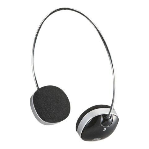 Bluetooth ヘッドホン ブラック 音楽・通話対応 スタイリッシュな軽量デザイン iPhone・スマートフォン(スマホ)対応 ハンドフリー [MM-BTSH30BK]【サンワサプライ】 【送料無料】