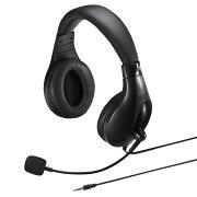 4極対応 ヘッドセット 両耳タイプ タブレット・スマホ対応 ブラック [MM-HS401BK]【サンワサプライ】