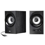 ハイパワーUSBスピーカー 高音質 最大25.6W出力 ブラック パソコン pc pcスピーカー [MM-SPU9BK]【サンワサプライ】【送料無料】