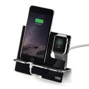 AppleWatch・iPhone用充電スタンド ブラック 充電クレードル iPhone8/8 Plus対応 [PDA-STN12BK] 【サンワサプライ】