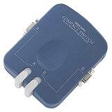 【】モニタ切替器 2回路 コンパクト デスク側面に取付可能 [SW-CP21V] 【サンワサプライ】