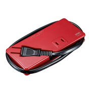 モバイルタップ(AC2個口・USB充電2ポート・薄型・レッド)[TAP-MU1R]【ネコポス対応】【楽天BOX受取対象商品】【送料無料】
