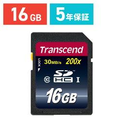 Transcend SDカード 16GB Class10 SDHC 5年保証 メモリーカード クラス10 入学 卒業