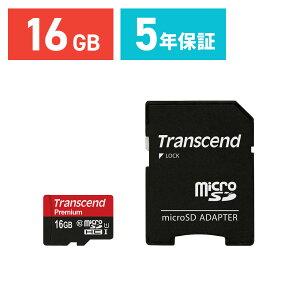 microSDHC������16GBUHS-I��®Class10�ʥ��饹10�˱ʵ��ݾ�SD�����ץ����եޥ�����SD������Transcend�ʺ���ž��®��45MB/s��