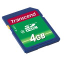 Transcend SDカード 4GB Class4 SDHC 永久保証 メモリーカード クラス4 [TS4GSDHC4]【ネコポス対応】【楽天BOX受取対象商品】