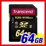 ������̵����Transcend SDXC������ 64GB Class10 UHS-II ����285MB/s U3�б���TS64GSD2U3�ϡڥͥ��ݥ��б��ۡڳ�ŷBOX�����оݾ��ʡ�