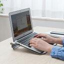 ノートパソコンスタンド スチール製 キーボード入力しやすい 角度15度 ノートパソコン台