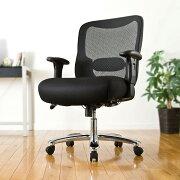 【送料無料】メッシュチェア ネットチェア 耐荷重200kg ロッキング キャスター ランバーサポート 肘付 オフィスチェア 椅子 [150-SNCM001]