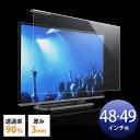 テレビ 保護パネル 48型 49型 アクリル製 3mm厚 光沢 グレア [200-CRT022]