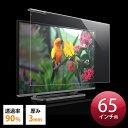 テレビ 保護パネル 65型対応 アクリル製 3mm厚 光沢 グレア [200-CRT024]