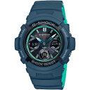 【カシオ】G-SHOCK 腕時計 ソーラー電波時計 NAVY BLUE ネイビーブルーAWG-M100SCC-2AJF【新品】