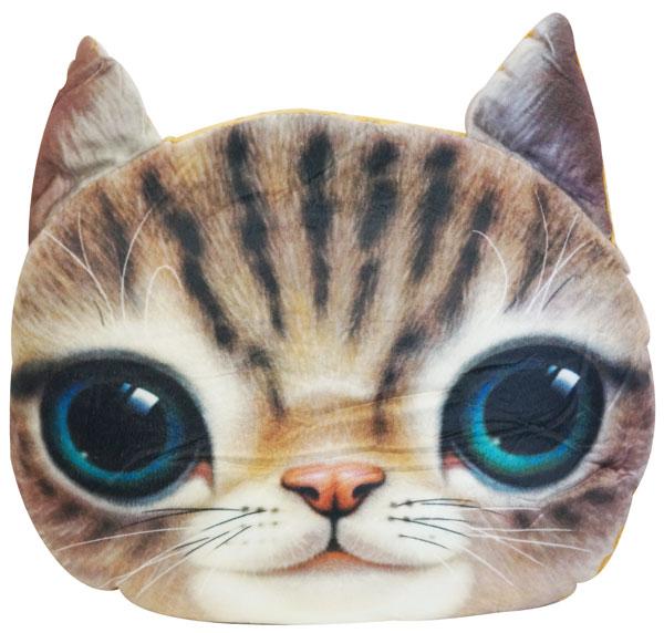 にゃんこBIGフェイスクッション B【 猫 ねこ ネコ アニマル 動物 グッズ クッション インテリア 顔柄 こたつ 】