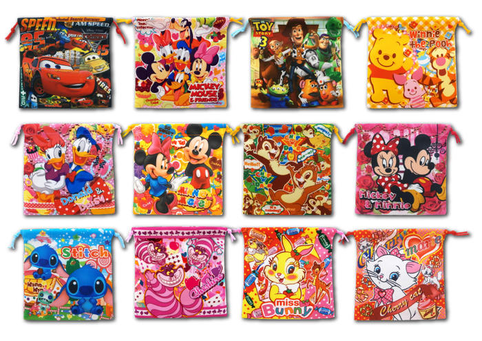 G1.2 【1枚あたり\40】 ディズニー カラフル巾着袋25枚セット【 景品 子供 イベ…...:sanyodo-shop:10013635