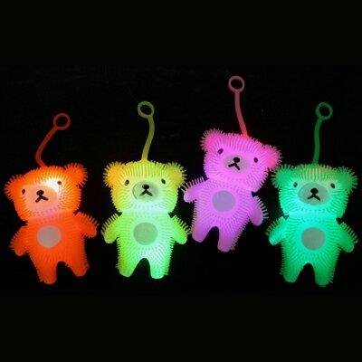 3-2s 光るおもちゃ 【祭り・縁日・景品】フラッシュくまちゃんヨーヨー 12個セット(1…...:sanyodo-shop:10012288