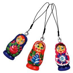 [5000円以上で送料無料] ロシアお土産 | マトリョーシカ ストラップ 3個セット【171263】