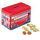 ショッピング貯金箱 [5400円以上で送料無料] イギリスお土産 | チャーチル(Churchill's) ロンドンバス缶 クリームトフィ【201166】
