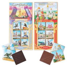 [5000円以上で送料無料] ロシアお土産   ロシア2大都市チョコレート 2種セット【171255】