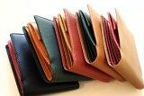 二つ折財布【送料無料】ビゾンテ(フルタンニンオイルヌメ革)×バレンシア(オイルシュリンク革) 外側BOX型小銭入れ付二つ折り財布 10P03Dec16