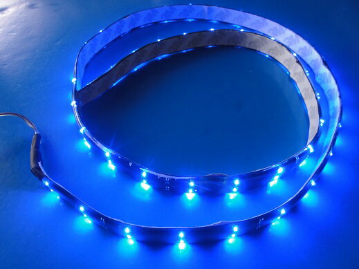 超高輝度!<ブルー 1×45=45灯>防水仕様 LEDテープライト 90cm 12V仕様
