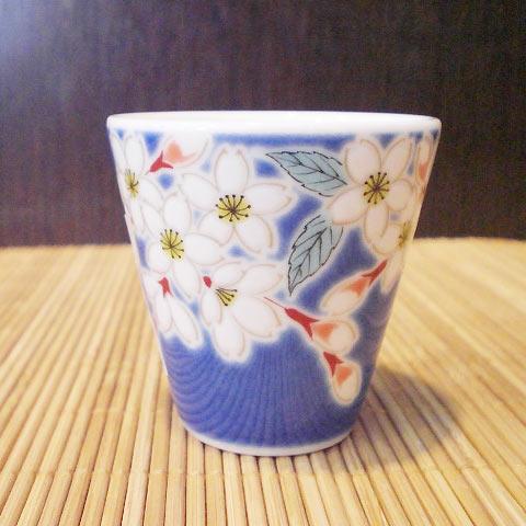 九谷焼縁起ちょこ桜ぐいのみ日本酒和食器日本製食器おしゃれお取り寄せ商品