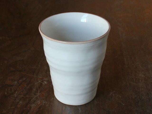 【鉄粉多い】茶線粉引手びねり風フリーカップ
