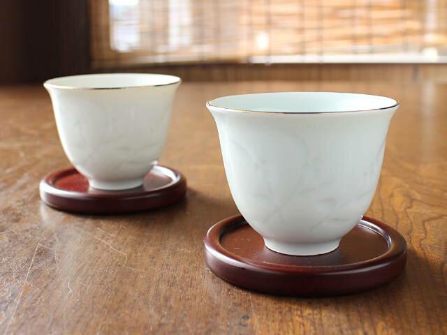 【アウトレット】【美濃焼】【金線のカスレ】【発色違い】青磁金線花彫り反煎茶