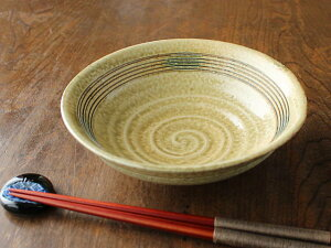 【アウトレット】【美濃焼】【高級和食器】【手づくりの器】黄瀬戸笠型平鉢