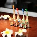 ネコのオブジェ シンプル 木製 【メール便OK】バリ バリ雑貨 ねこ ネコ バリねこ 指輪たて バリ猫