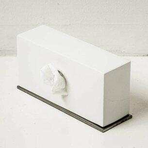 ティッシュ ボックス セラミック スタンド ホワイト